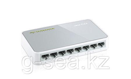 Коммутатор, TP-Link, TL-SF1008D, 8 port, настольный, 10100 M. Без PoE.