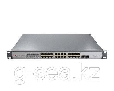 Коммутатор PoE GbE 24-портовый ONV POE33024PF  24 порта GbE PoE 802.3af, 2 порта Gb SFP, бюджет мощности PoE 380W