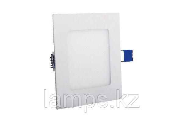 Светодиодная встраиваемая панель квадратная LENA-SX/6W/SMD/3000K/Φ105MM/CBOX