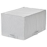 Сумка для хранения СТУК белый/серый ИКЕА, IKEA, фото 1