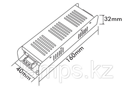 Тонкий блок питания PS60-S/60W/12VDC/IP21, фото 2