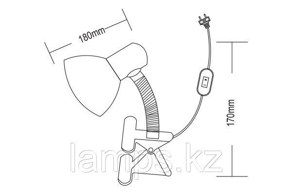 Настольная лампа IRIS-67/E27/RED
