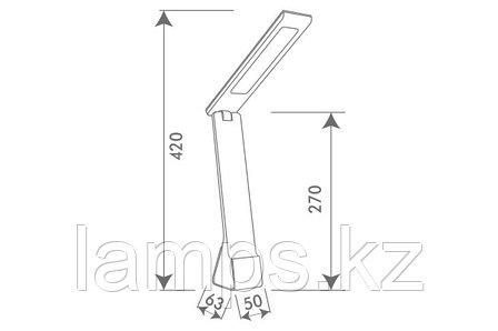 Настольная лампа VT/PARDUS/4W/15хSMD/GREY/3хCCT/5VDC, фото 2