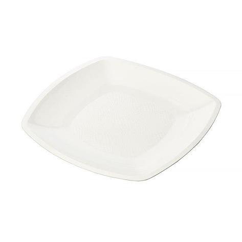 Тарелка - блюдо, квадратная Белая,300мм   ПП, , 3 шт, фото 2