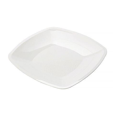 Тарелка квадратная плоская, Белая,230мм, ПП, 6 шт, фото 2