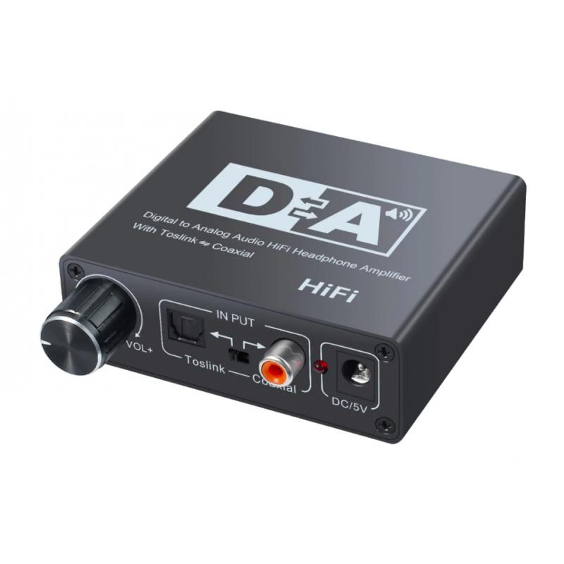 Цифровой аудио декодер+усилитель с регулятором громкости для наушников/телевизоров/акустических систем | NK-C6