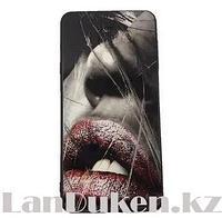 Чехол для телефона Samsung Galaxy A710 Принт девушки с яркой помадой