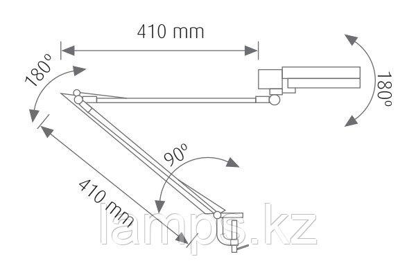 Настольная лампа FLEX-20B/E27/BLC