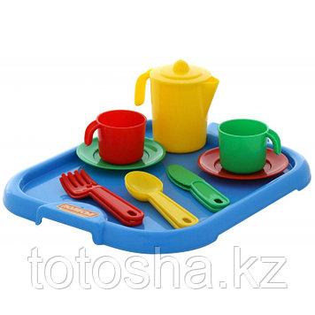 """Набор детской посуды """"Анюта"""" с подносом на 2 персоны 3865"""