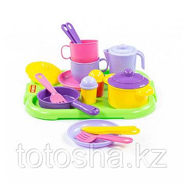 """Набор детской посуды """"Хозяюшка"""" с подносом на 2 персоны 4053"""