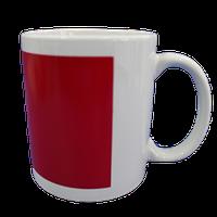 Кружка керамическая белая (Красный хамелеон прямоугольник)