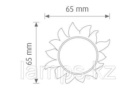 Ночной светодиодный светильник, ночник SUN/4xRLED/WHT/220V/EU.PLUG, фото 2
