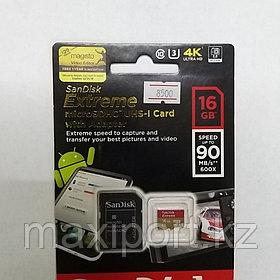 Micro SDHC Sandisk Extreme 16GB  UHS-I  U3  90MB/S