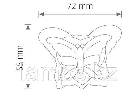 Ночной светодиодный светильник, ночник VITO VT809-3Х0.1W/GRN/BTRFLY SHAPE, фото 2