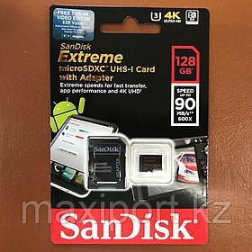 Micro SDXCSandisk Extreme 128GB  UHS-I  U3  90MB/S