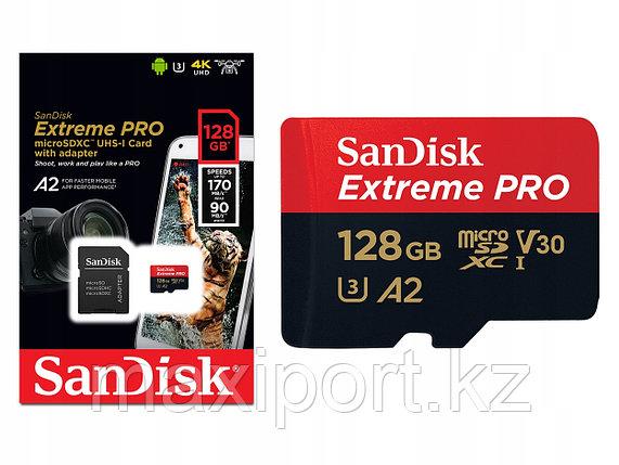 Micro SDXC Sandisk Extreme Pro  128GB UHS-I U3, фото 2