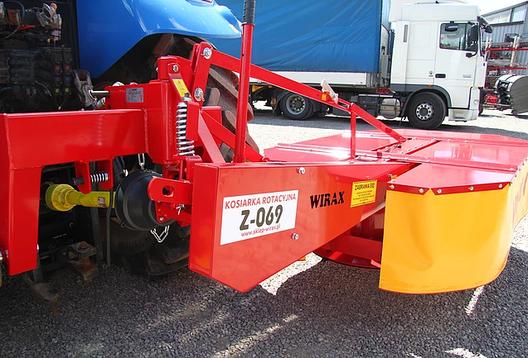 Навесная роторная косилка Wirax Z-069/2 захват 1,85м, фото 2