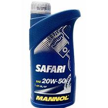 Моторное масло MANNOL Safari 20W-50 API SN/CH-4 1L для экстримальных нагрузок