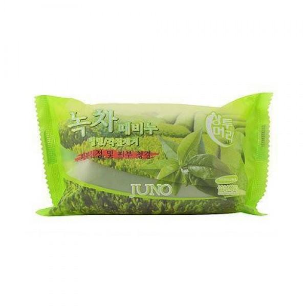 Juno Пилинг - мыло с зеленым чаем Green Tea Peeling Soap / 150 гр.