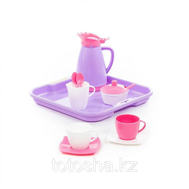"""Набор детской посуды """"Алиса"""" с подносом на 2 персоны (Pretty Pink) 40589"""