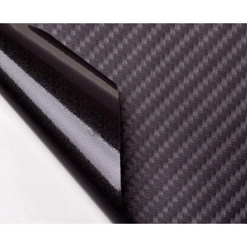 """Виниловая пленка 3D под """"Карбон"""" черная (структура Hexis) 1,52 м."""