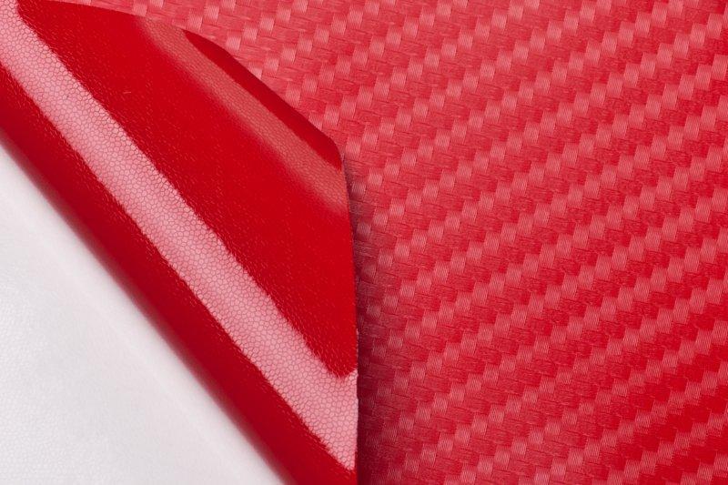 """Виниловая пленка 3D под """"Карбон"""" красная 1.52 м."""