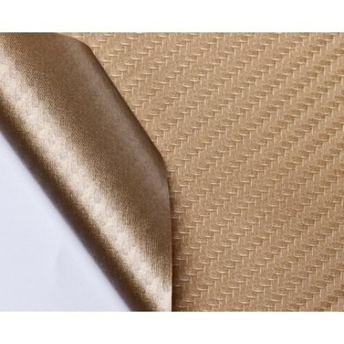 """Виниловая пленка 3D под """"Карбон"""" золотая 1.52 м"""