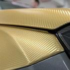 """Виниловая пленка 3D под """"Карбон"""" золотая 1.52 м, фото 2"""