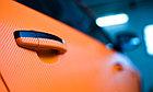 """Виниловая пленка 3D под """"Карбон"""" оранжевый 1,52 м., фото 4"""