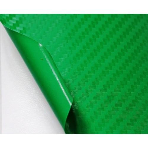 """Виниловая пленка 3D под """"Карбон"""" зеленая (салатовая) 1,52 м."""