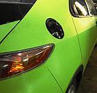 """Виниловая пленка 3D под """"Карбон"""" зеленая (салатовая) 1,52 м., фото 3"""