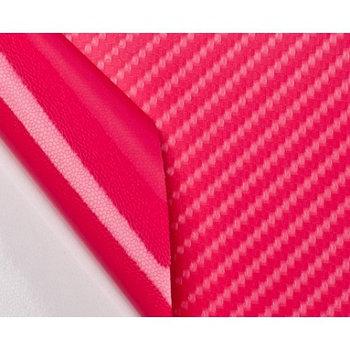 "Виниловая пленка 3D под ""Карбон"" розовая 1,52 м."