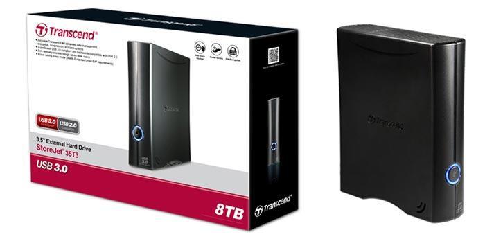 Внешний жесткий диск 3,5 8TB Transcend TS8TSJ35T3