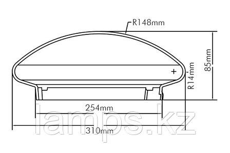 Настенно-потолочный светильник GALATA-300/OPAL/2xE27, фото 2
