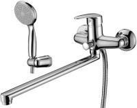 Смеситель Lemark Pramen LM3301C для ванны и душа универсальный с длинным плоским изливом