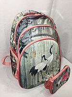 Школьный рюкзак для девочек в 7-9-й класс.Высота 43 см, длина 28 см, ширина 20 см., фото 1