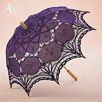 Кружевной зонт фиолетовый, фото 1