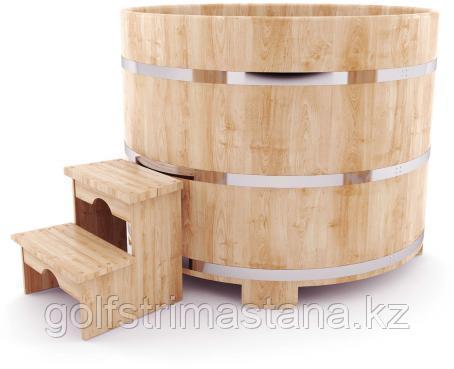 Купель д*в. 200*120 см / круглая / кедровая