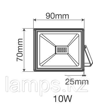 Прожектор светодиодный INDUS/10W/SMD/6000K/IP65/220V, фото 2