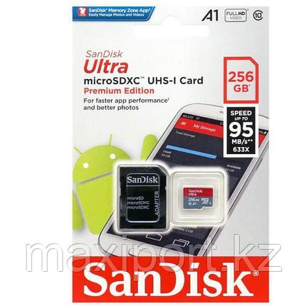 Micro SDXC  Sandisk ultra 256GB  95MB/S UHS-1  10CLASS, фото 2