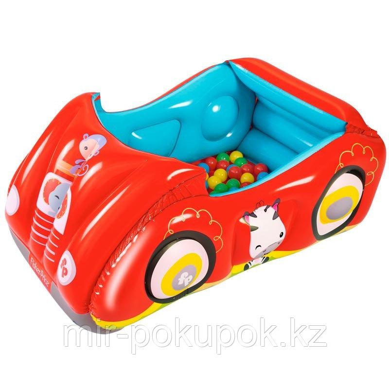 Игровой центр манеж Машина с 25 шариками, Fisher Price, Bestway 93520 (детский надувной бассейн)