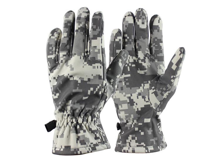Перчатки тактические зимние камуфляж - фото 1