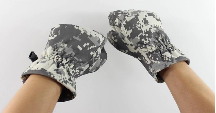 Перчатки тактические зимние камуфляж - фото 2
