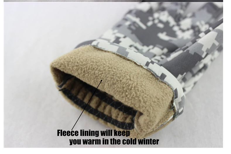 Перчатки тактические зимние камуфляж - фото 3