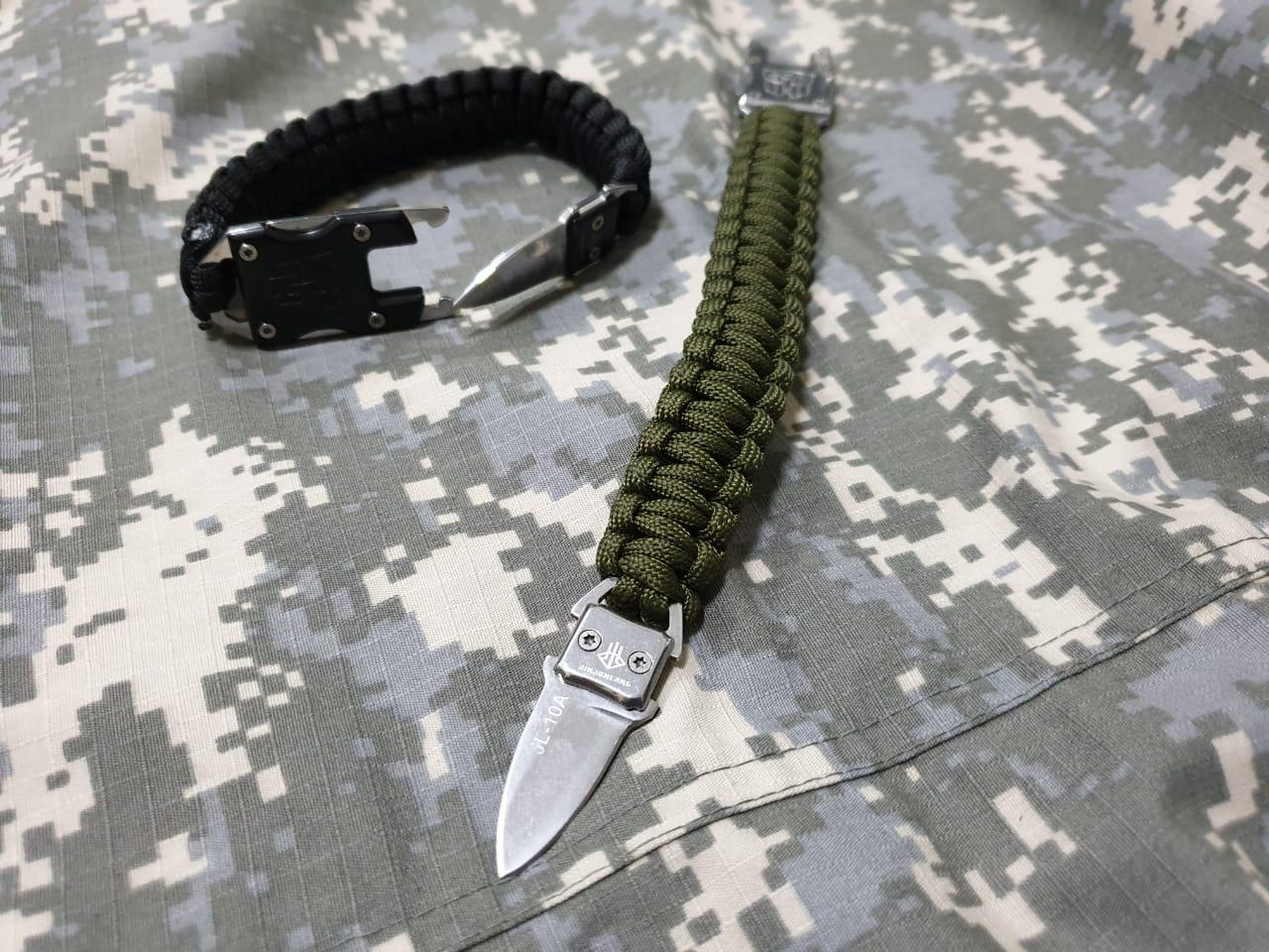 Паракорд браслет с ножом