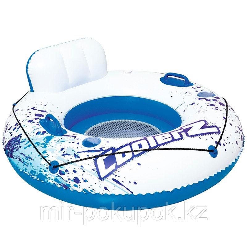 Надувное кресло-круг Bestway 43108 голубое с ручками 119 см