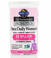 Garden of Life, Разработанные доктором пробиотики, витаминный комплекс Once Daily Women's, 30 вегетарианский к, фото 2