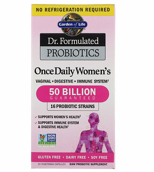 Garden of Life, Разработанные доктором пробиотики, витаминный комплекс Once Daily Women's, 30 вегетарианский к