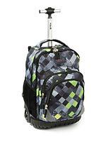 Школьный рюкзак на колесах Tilami Green-gray plaid( Зелено-Серый плед)