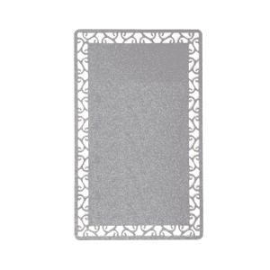 Визитка металлическая двухсторонняя серебряная